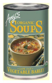 Amys Organic Can Vegetable Barley Soup 400gm