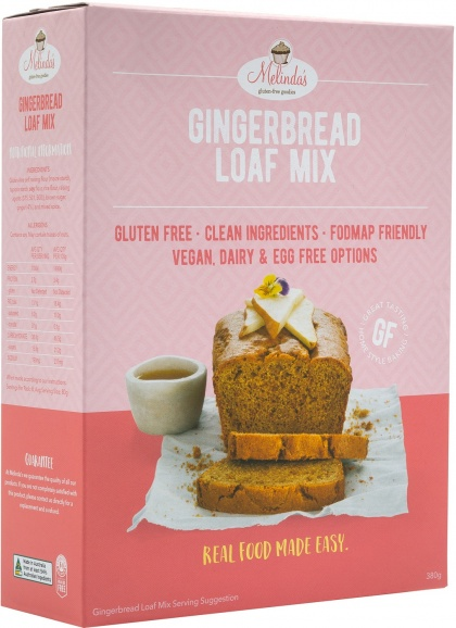 Melindas Gingerbread Loaf  Pre-Mix 380g