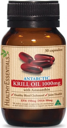 Healthy Essentials Antartic Krill 1000mg 30s Caps