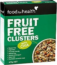 Food For Health Fruit Free Clusters w/Chia  450g