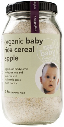 Real Good Foods Baby Apple Rice Cereal 330g