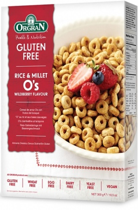Orgran Rice O's Wildberry Cereal 300g