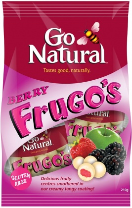 Go Natural Berry Frugo's in Yoghurt 210gm x 8 Box