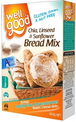 Well And Good Chia L/Seed&Sunflower Bread Mix 460g