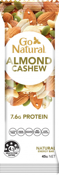 Go Natural Almond & Cashew Bar 16x45g