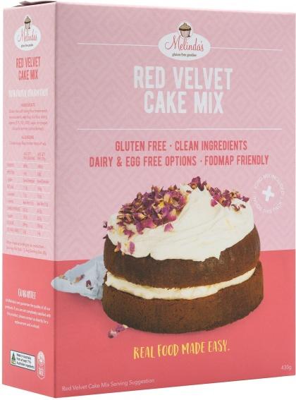 Melindas Gluten Free Red Velvet Cake 430g