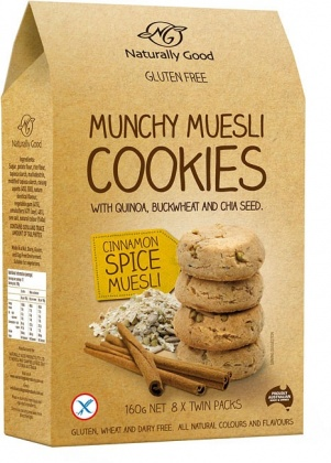 Naturally Good Munchy Muesli Cookie Cinnamon 160g