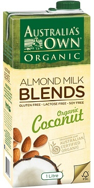 Australia's Own Organic Almond & Coconut Milk 8x1L