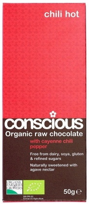 Conscious Organic Raw Chocolate Hot Chili 50gm