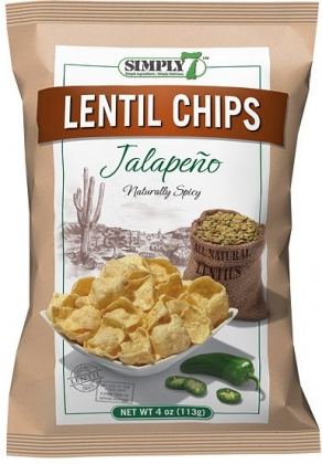 Simply 7 Lentil w/Jalapeno Chips 113g