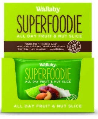 Wallaby Superfoodie Coconut Lime Slice  8x48g