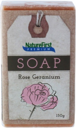 Natures First Premium Soap Rose Geranium 150g