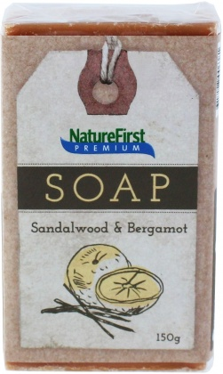 Natures First Premium Soap Sandalwood & Bergamot 150g