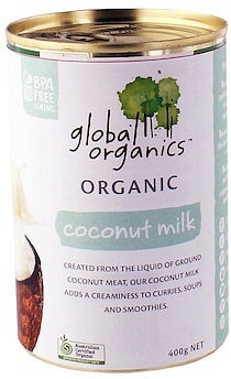 Global Organics Coconut Milk  400g Can