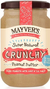 Mayvers Super Natural Crunchy Peanut Butter  375g