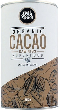 Real Good Food Organic Cacao Nibs Raw 250g