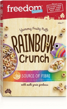 Freedom Foods Rainbow Crunch Fruity Puffs Cereal  285g