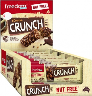 Freedom Foods Cocoa Crunch Rice Bars  18x24g
