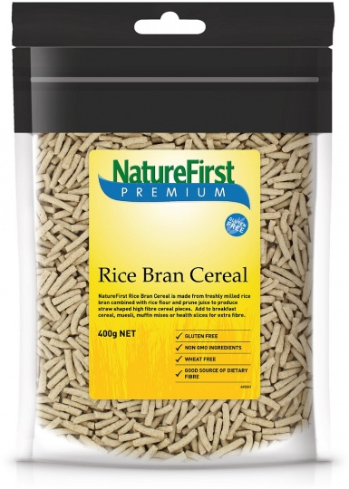 Natures First Rice Bran Cereal 400g