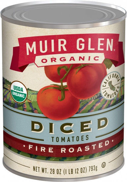 Muir Glen Tomatoes Fire Roasted Diced 411gm