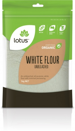 Lotus Organic Wheat White Unbleached 1kg
