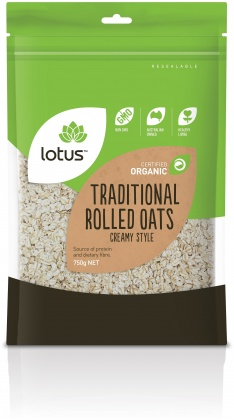 Lotus Organic Rolled Oats Traditional Creamy 750gm
