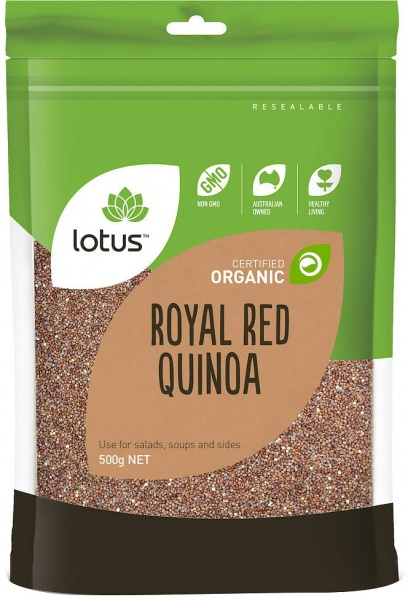 Lotus Organic Red Quinoa Grain 500gm