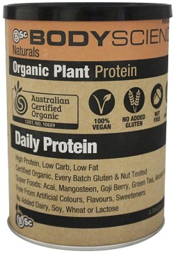 BSc Naturals Organic Plant Protein Chocolate 350g
