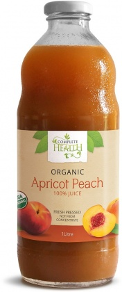 Complete Health Organic Apricot Peach 100% Juice 1L OCT16