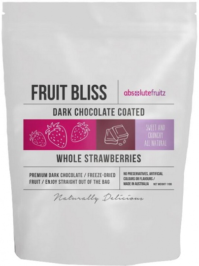 Absolutefruitz Fruit Bliss Dark Chocolate Coated Whole Strawberries 110g