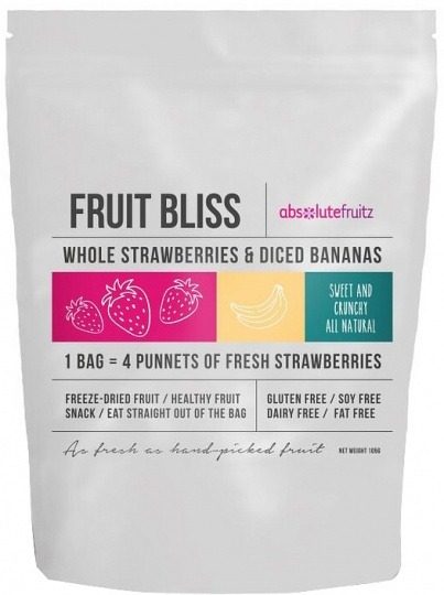 Absolutefruitz Fruit Bliss Milk Whole Strawberries & Diced Bananas 105g