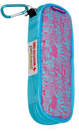 AllerMates EpiPen Blue/Pink Cartoons  Montage Case