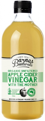Barnes Naturals Organic Apple Cider Vinegar & The Mother 1L