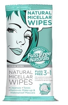 Essenzza Fuss Free 3 in 1 Micellar Cleansing Wipes 8Pk