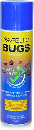 Rapelle Bugs Non Toxic - Carpet, Drapes, Mattresses & Lounges Aerosol 330g