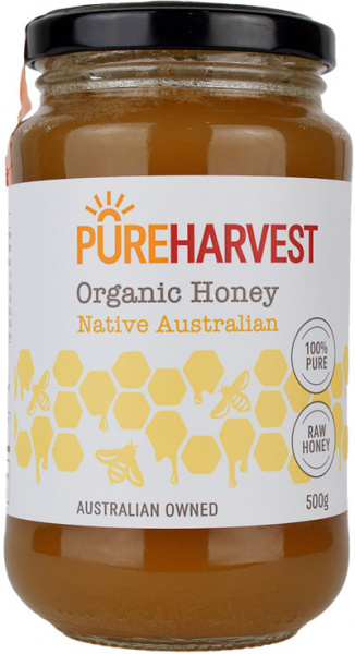 Pure Harvest Organic Raw Honey 500gms