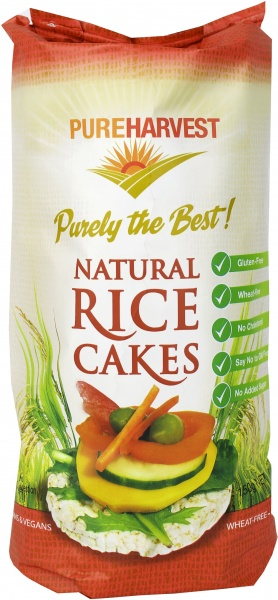 Pure Harvest  Rice Cakes Natural 150g