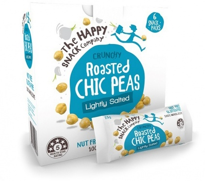 The Happy Snack Company Roasted Chic Peas Lightly Salted 6x25g Box