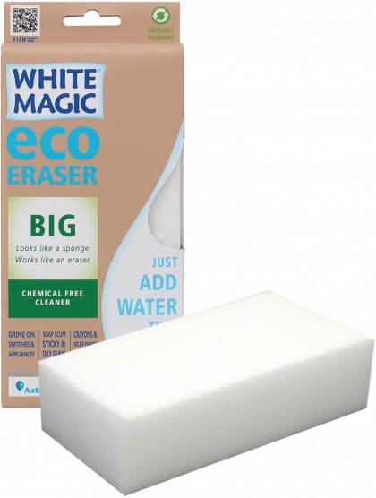 White Magic Medium Eraser Sponge - 18x9x4cm