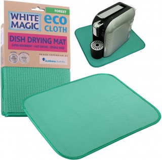 White Magic Eco Cloth Dish Drying Mat Forest - 40x45cm