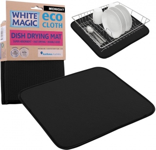 White Magic Dish Drying Mat Midnight - 40x45cm