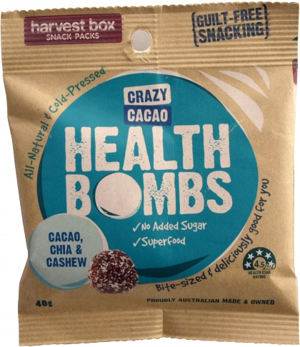 Harvest Box Crazy Cacao Health Bombs 40g