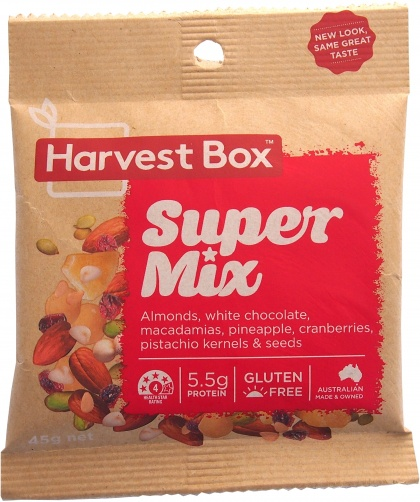 Harvest Box Super Mix, Dried Fruit & Nut w/White Chocolate  45g