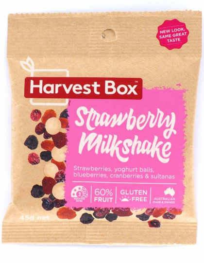 Harvest Box Stawberry Milkshake, Dried Fruit & Yoghurt Balls  45g