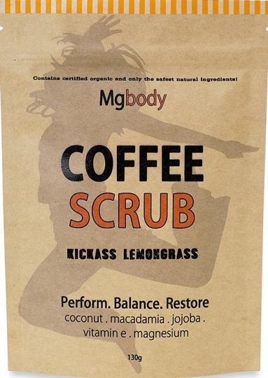 Mgbody Scrub Coffee+Magnesium+Coconut - Kickass Lemongrass 130g