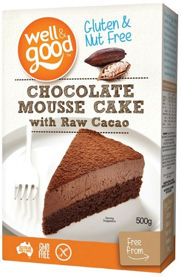 Well And Good Chocolate Mousse Cake with Raw Cacao  500g