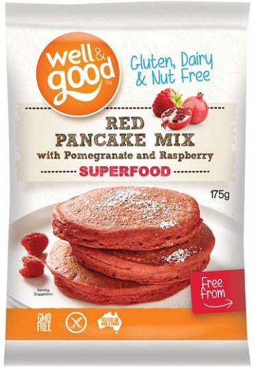 Well And Good Red Pancake Mix with Pomegranate & Raspberry  175g