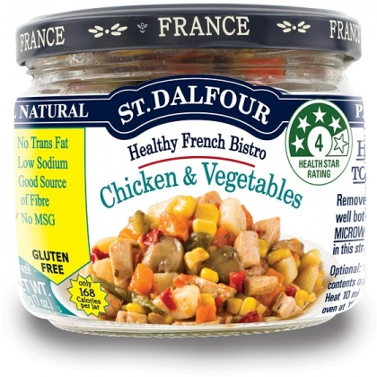 St Dalfour Healthy French Bistro Chicken and Vegetables Gluten Free in Glass 200g