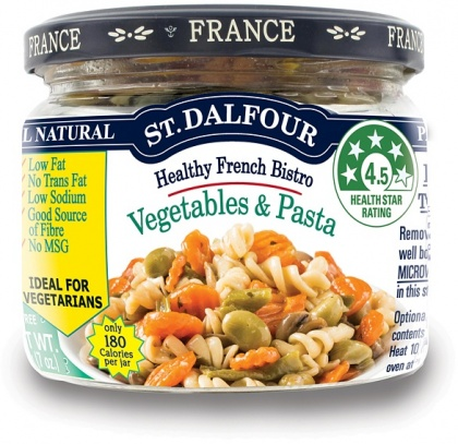 St Dalfour Healthy French Bistro Vegetables & Pasta in Glass 200g