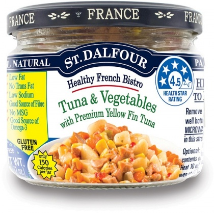 St Dalfour Healthy French Bistro Yellow Fin Tuna and Vegetables Gluten Free in Glass 200g